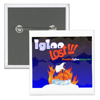 Flaming Igloo Lost 15 Cm Square Badge