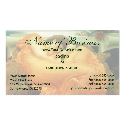 Flaming June by Lord Frederic Leighton Pack Of Standard Business Cards