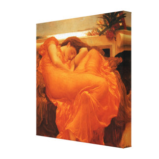 Flaming June Frederic Leighton Fine Art Canvas Print