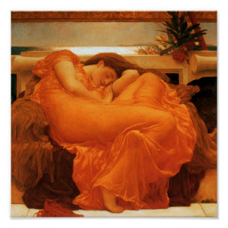 Flaming June Romanticism Posters