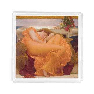 Flaming June Vintage Acrylic Tray