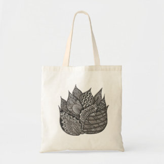 Flaming Leaves of Doodle Budget Tote Bag