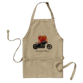 Flaming Love Biker Apron