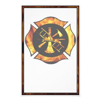 Flaming Maltese Cross Stationary Stationery