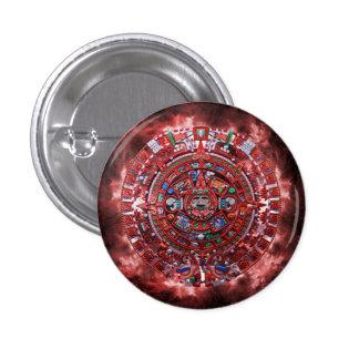 Flaming Mayan Calender 3 Cm Round Badge