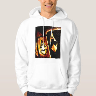 Flaming Pocket Aces Bullets Poker by Teo Hoodie
