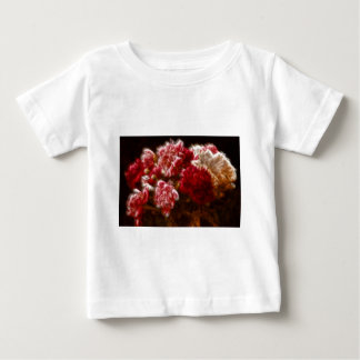 Flaming Red Peony Flower Bouquet Baby T-Shirt