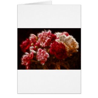 Flaming Red Peony Flower Bouquet Card