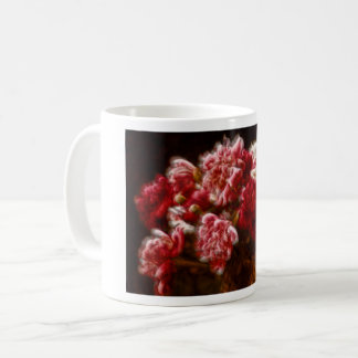 Flaming Red Peony Flower Bouquet Coffee Mug