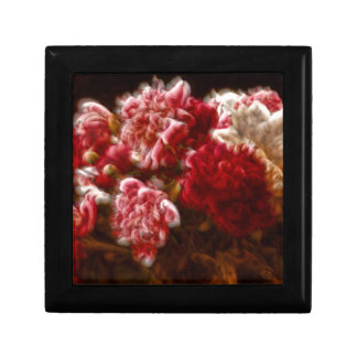 Flaming Red Peony Flower Bouquet Gift Box
