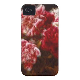 Flaming Red Peony Flower Bouquet iPhone 4 Case-Mate Case