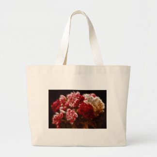 Flaming Red Peony Flower Bouquet Large Tote Bag