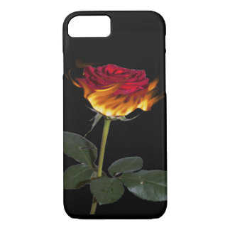 Flaming Red Rose Phone/Tablet Case