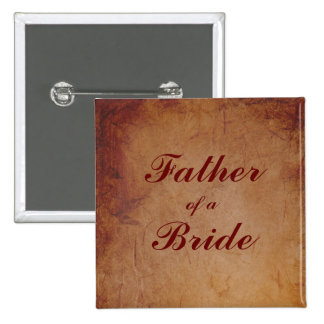 Flaming Red Rustic Lesbian Bride's Father Badge