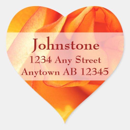 Flaming Rose Wedding Return Address Stickers