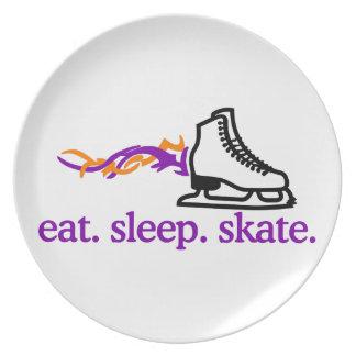 Flaming Skate Dinner Plates