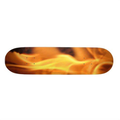 Flaming Skateboard