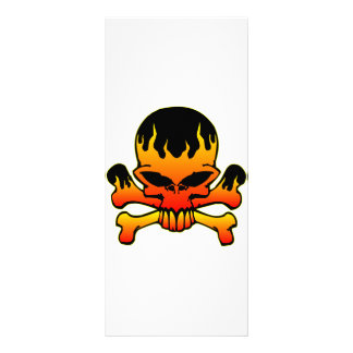 Flaming Skull and Crossbones Custom Rack Cards