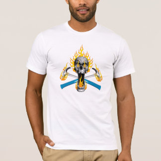 Flaming Skull and Hammers T-Shirt