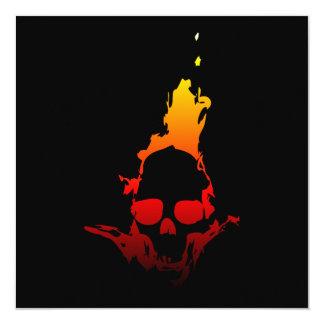 Flaming Skull Card