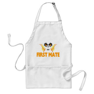 Flaming Skull First Mate Aprons