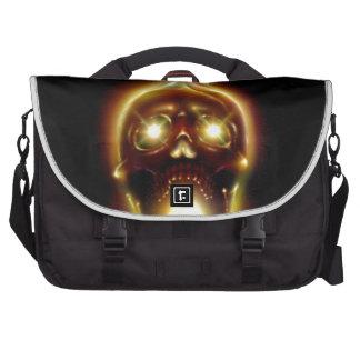 Flaming Skull Commuter Bag