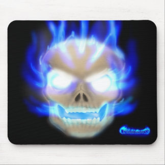 Flaming Skull Mouse Pad 2