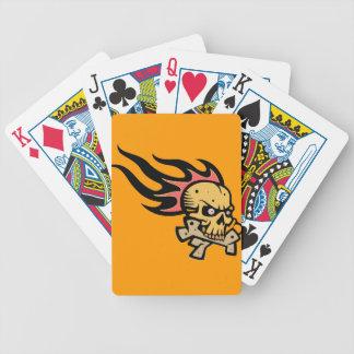 Flaming skull poker deck