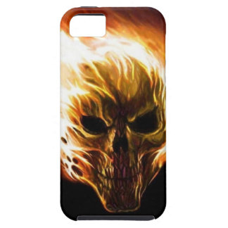 Flaming Skull Tough iPhone 5 Case
