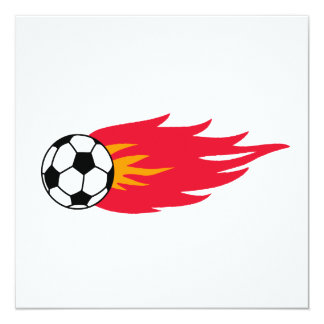 Flaming Soccer Ball T-shirts and Gifts 13 Cm X 13 Cm Square Invitation Card