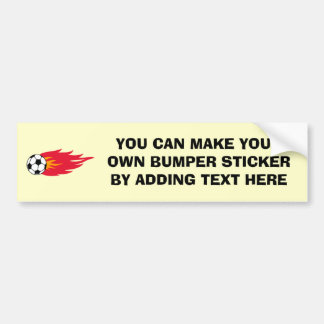 Flaming Soccer Ball T-shirts and Gifts Bumper Sticker