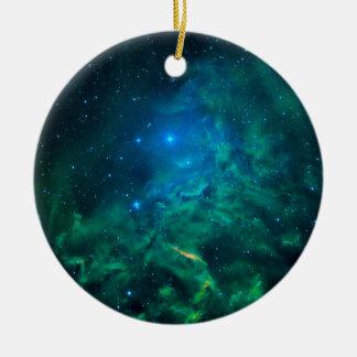 Flaming Star Nebula Ceramic Ornament