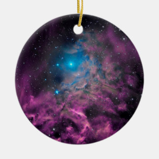 Flaming Star Nebula Ceramic Ornament