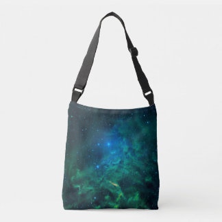 Flaming Star Nebula Crossbody Bag