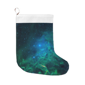 Flaming Star Nebula Large Christmas Stocking
