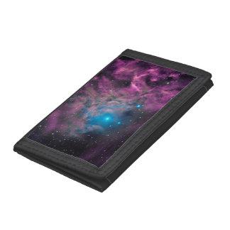 Flaming Star Nebula Tri-fold Wallet