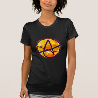 Flaming Sun Atheist Symbol T-Shirt