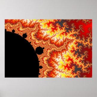 Flaming Sun - Fractal Poster