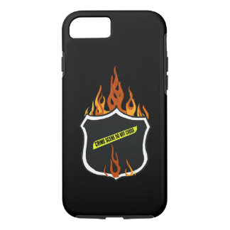 Flaming Tattoo Police Badge iPhone 7 Case