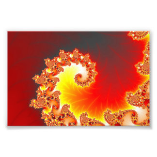 Flaming Tentacle - Fractal Art Art Photo