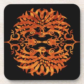 Flaming Tribal Phoenix Coaster