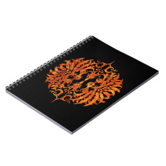 Flaming Tribal Phoenix Notebook