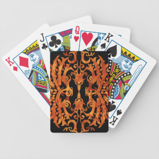 Flaming Tribal Phoenix Poker Deck