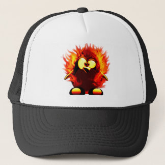 Flaming Tux (Penguin Torch) Cap