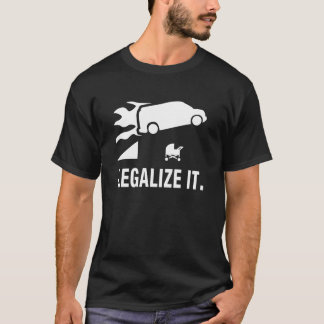 Flaming Van Jumping:  Legalize It. T-Shirt