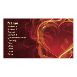 FlamingHeart fire dark red love flames heart shape Business Card