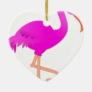 flamingo #12 ceramic ornament