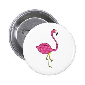 flamingo 6 cm round badge