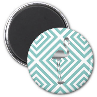 Flamingo - abstract geometric pattern - blue. magnet