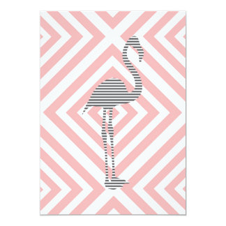 Flamingo - abstract geometric pattern - pink. card